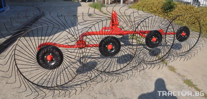 Сенообръщачки Сеносъбирач POINT модел  4 работни органа 1 - Трактор БГ